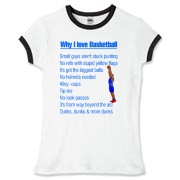 Why I Love Basketball Women's Fitted Ringer Tee