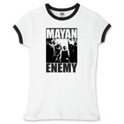 Mayan Enemy - Women's Fitted Ringer Tee