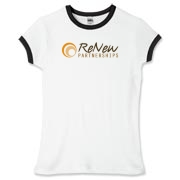 ReNew Women's Fitted Ringer Tee - light colors