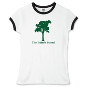 Green Logo Women's Fitted Ringer Tee