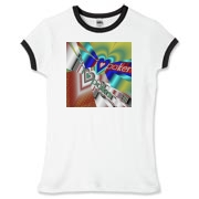 I Love Poker Women's Fitted Ringer Tee
