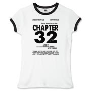 Chapter 32 Movie Poster Women's Fitted Ringer Tee
