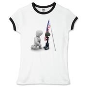 Fallen Soldiers Women's Fitted Ringer Tee