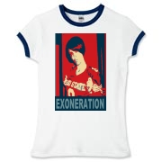 exzoneration Women's Fitted Ringer Tee