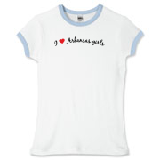 I love Arkansas girls. Who doesn't?! Sometimes you just have to declare your love to the whole world, but you don't know how - until now. Studies have shown this tee to be a magnet for Arkansas girls... (Not guaranteed!)