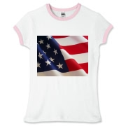 OLD GLORY -  Women's Fitted Ringer Tee