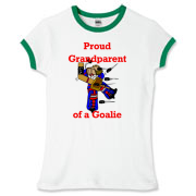 Goalie Grandparent Women's Fitted Ringer Tee
