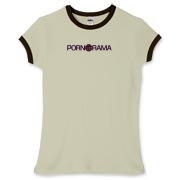 Pornorama Women's Fitted Ringer Tee