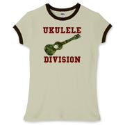 Ukulele Forces -  Women's Fitted Ringer Tee