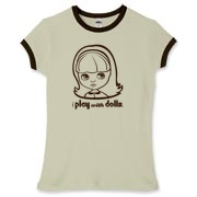I Play with Dolls Blythe Women's Fitted Ringer Tee