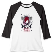 Red Reaper Women's Fitted Baseball Tee