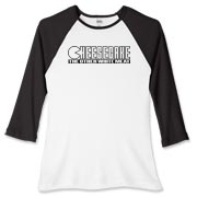 Women's Fitted Baseball Tee - Cheesecake (blk)