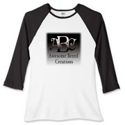 Awesome Breed Creations Women's Fitted Baseball Te