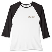 MY RUN - Design - 2  Women's Fitted Baseball Tee