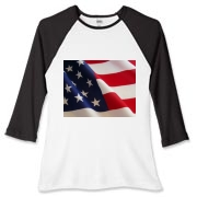 OLD GLORY -  Women's Fitted Baseball Tee