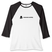 Nonsense Society [light] Women's Fitted Baseball T
