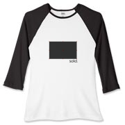 Create Solid Women's Fitted Baseball Tee