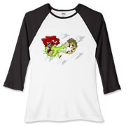 Berzerk Ball Two Women's Fitted Baseball Tee