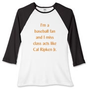 Miss Cal Ripken Women's Fitted Baseball Tee