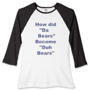 Duh Bears  Women's Fitted Baseball