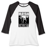Mayan Enemy - Women's Fitted Baseball Tee