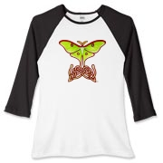 Celtic Lunar Moth Women's Fitted Baseball Tee