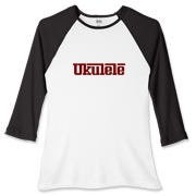 Ukulele Sportscar Women's Fitted Baseball Tee