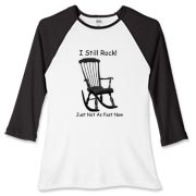 I Still Rock! Women's Fitted Baseball Tee