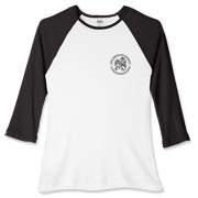 SMAU Black Logo  Women's Fitted Baseball Tee