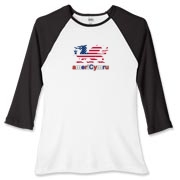 AmeriCymru Dragon Women's Fitted Baseball Tee