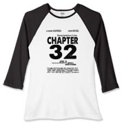 Chapter 32 Movie Poster Women's Fitted Baseball Te