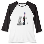 Fallen Soldiers Women's Fitted Baseball Tee