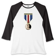 Pennies For Heroes Medal Women's Fitted Baseball T