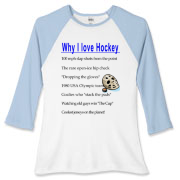 Why I Love Hockey Women's Fitted Baseball Tee