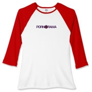 Pornorama Women's Fitted Baseball Tee