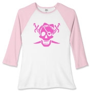 Pretty Pirate Women's Fitted Baseball Tee