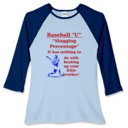 Slugging Percentage Women's Fitted Baseball Tee