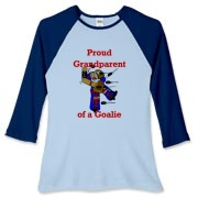Goalie Grandparent Women's Fitted Baseball Tee