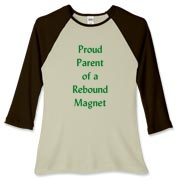 Parent of Rebound Magnet Women's Fitted Baseball T