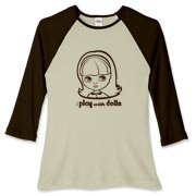 I Play with Dolls Blythe Women's Fitted Baseball T
