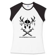 Ladies Berzerk Fitted Cap Sleeve Tee