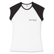 MY RUN - Design - 2  Women's Fitted Cap Sleeve Tee