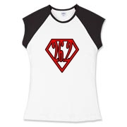 Up, Up, and away!  26.2 Super Runner comic book hero style on running shirts.