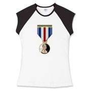 Pennies For Heroes Medal Women's Fitted Cap Sleeve