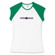 Pornorama Women's Fitted Cap Sleeve Tee