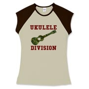 Ukulele Forces -  Women's Fitted Cap Sleeve Tee