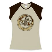 Nordic Ferret Women's Fitted Cap Sleeve Tee