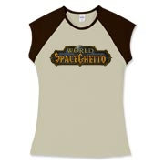 world of space ghetto Women's Fitted Cap Sleeve Te