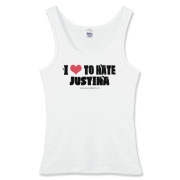 I Love To Hate Justina Women's Fitted Tank Top