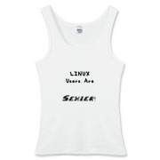 This women's amusing Linux tank top says: Linux Users Are Sexier. Duh! Let this design advertise your sexy computer prowess.